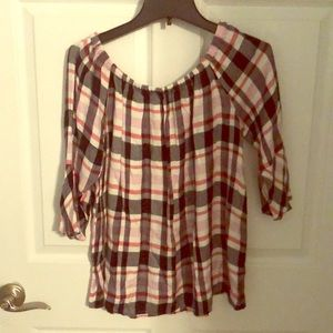 Plaid Pull over top